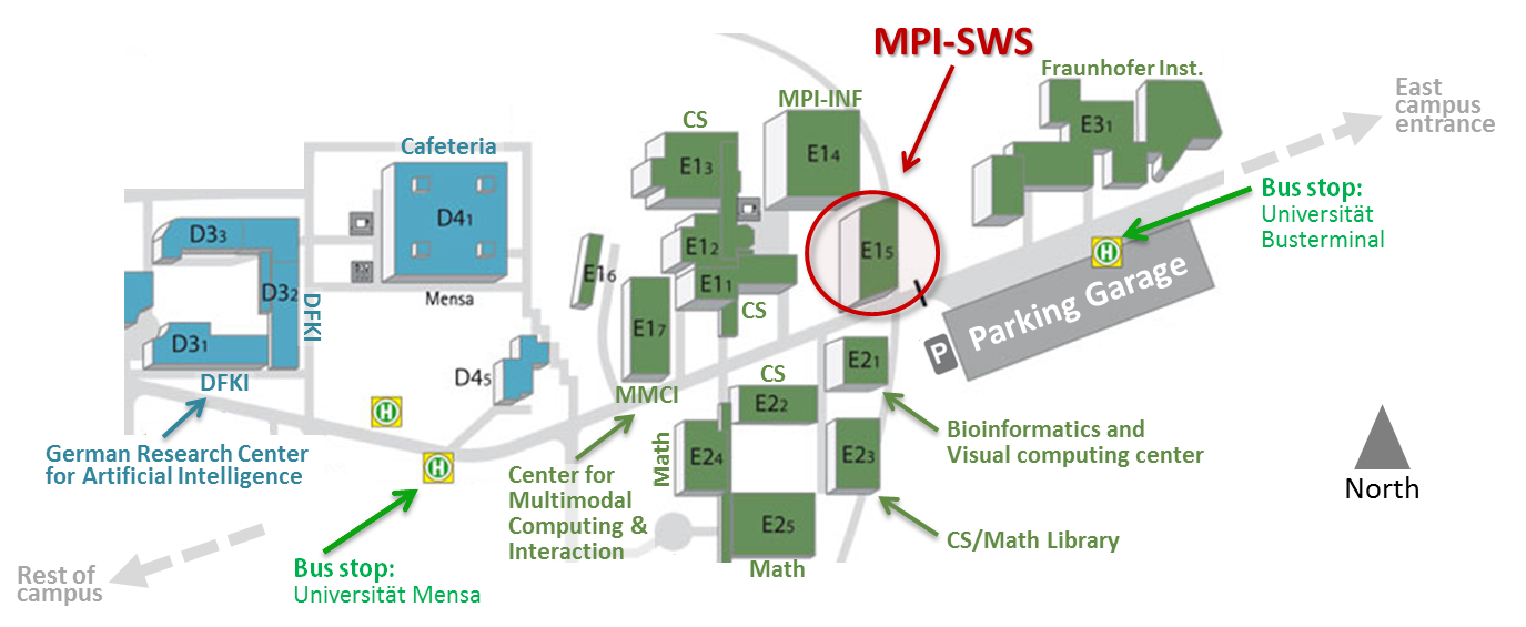 Campus-Map-MPI-SWS-Saarbruecken